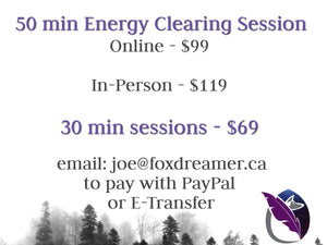 30 & 50 minute Energy Clearing Sessions