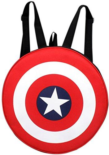 f3a92b23f716 Auxter Red Polyester 20L Avengers Captain America Backpack — Hylacs