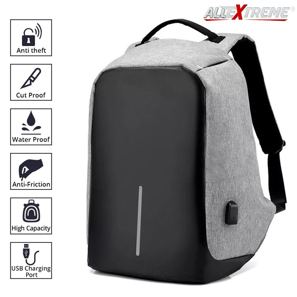 c05205caad AllExtreme Anti theft Backpack Business Laptop Bag with USB Charging Port  Waterproof School College Travel Hiking