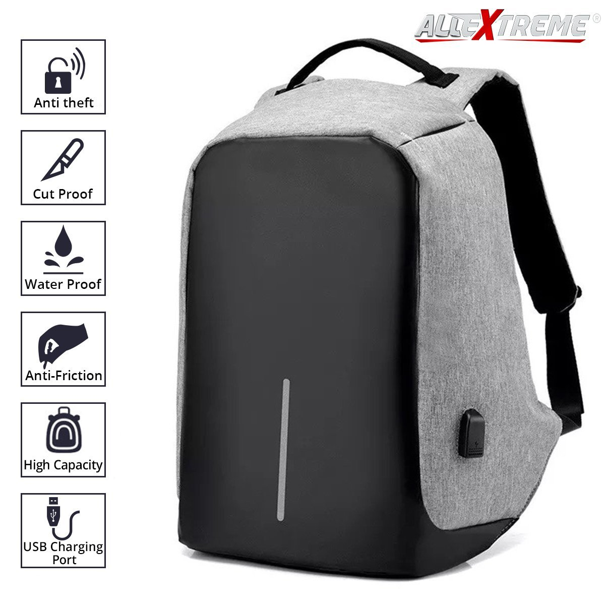 487bb1b52599 AllExtreme Anti theft Backpack Business Laptop Bag with USB Charging P —  Hylacs