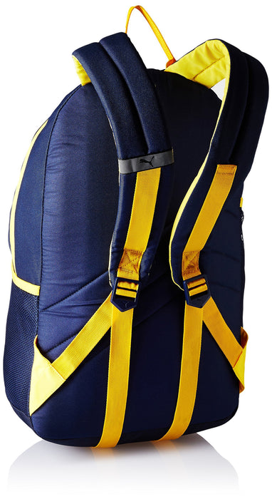 e1548efb2a9d Puma 17 Ltrs Navy-Yellow Casual Backpack (7512103) — Hylacs