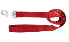Hamilton Red Nylon Leash 4' (Assorted Sizes)