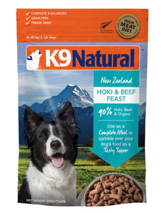 K9 Natural Hoki & Beef Feast