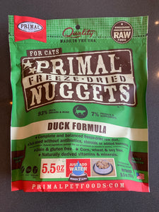 Primal CAT Freeze Dried Nuggets Duck 5.5 oz