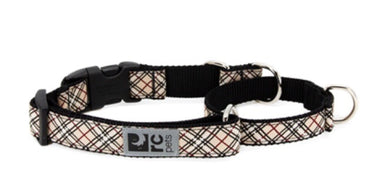 RC Pets Easy Clip Web Training Collar Tan Tartan
