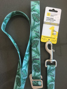 Be One Breed Silicone Leash Tropical Palms 6'