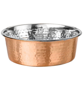 Arjan Dineasty Hammered Copper Plated Bowl