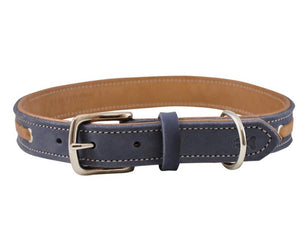 Shedrow K9 Banyon Leather Collar Bluestone (Assorted Sizes)