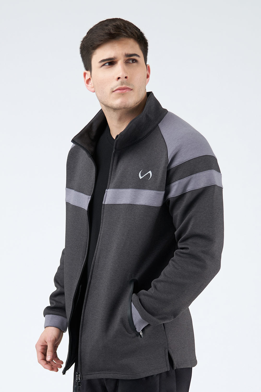TLF Techne Athletic Jacket - Black Heather - TLF Apparel | Take Life Further