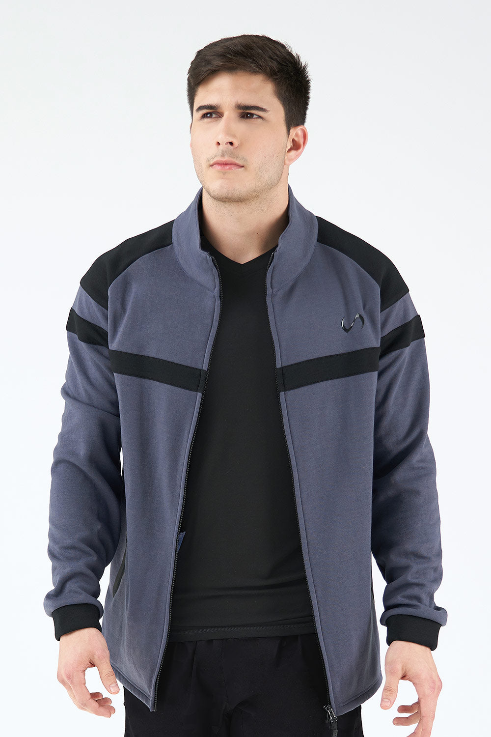 TLF Techne Athletic Jacket - Deep Navy Heather - TLF Apparel | Take Life Further