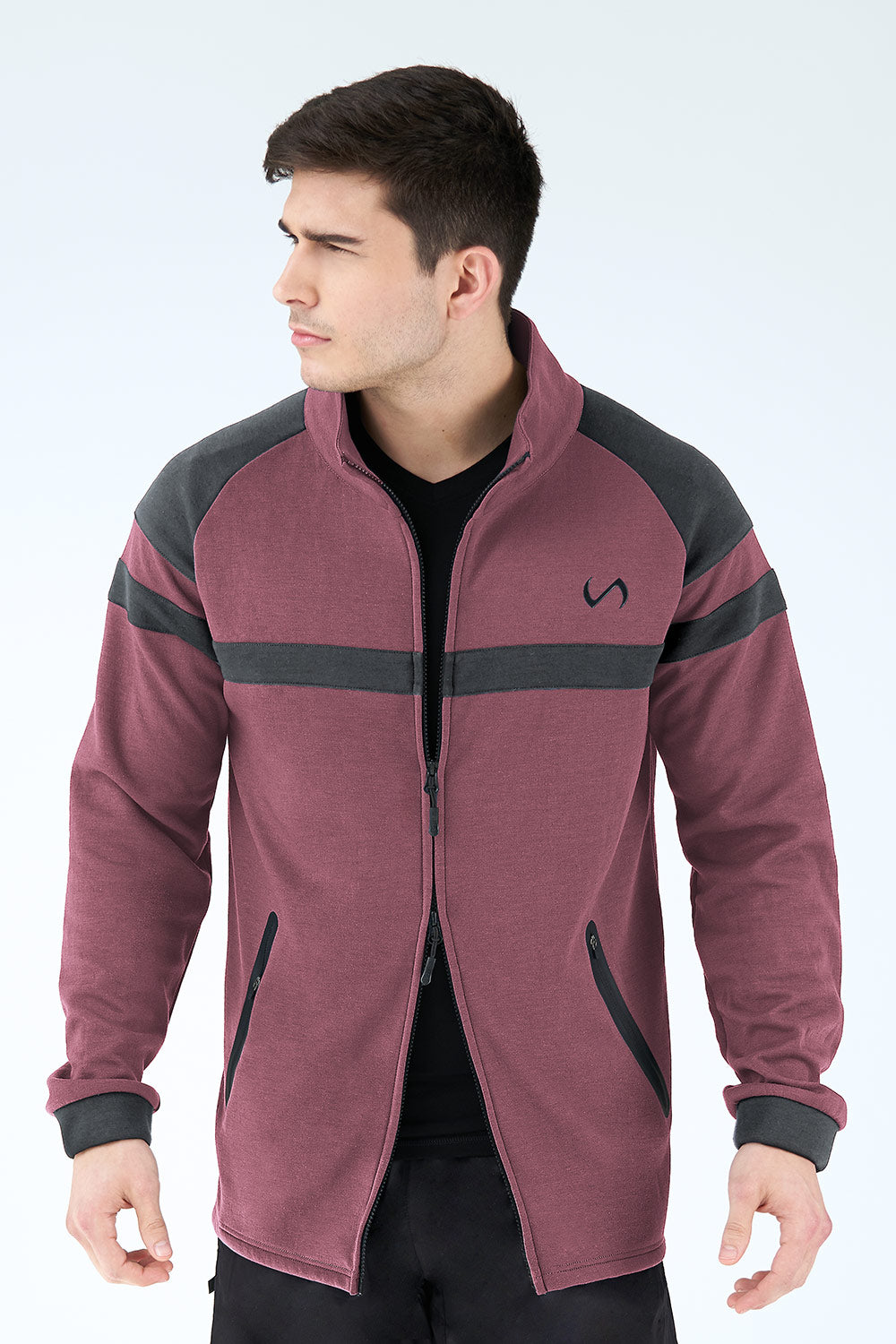 TLF Techne Athletic Jacket - Loganberry Heather - TLF Apparel | Take Life Further