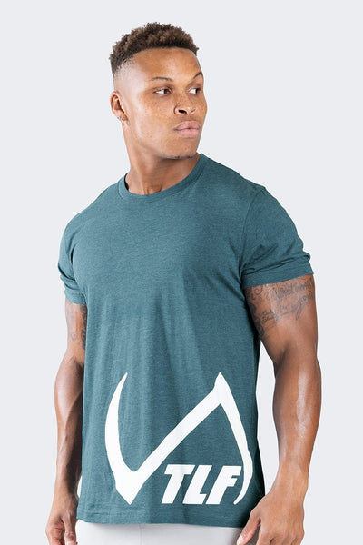 TLF Apparel - Descend T-Shirt - MEN GRAPHIC T-SHIRTS - Heather Deep Teal / SHeather Deep Teal / MHeather Deep Teal / LHeather Deep Teal / XLHeather Deep Teal / 2XL