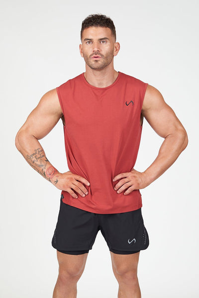 TLF Apparel - Air-Flex Gym Tank - MEN TANK TOPS & SLEEVELESS - Crimson / SCrimson / MCrimson / LCrimson / XLCrimson / 2XL