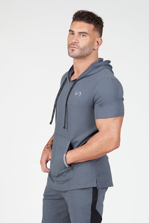 TLF Air-Flex Short Sleeeve Gym Hoodie - Crimson