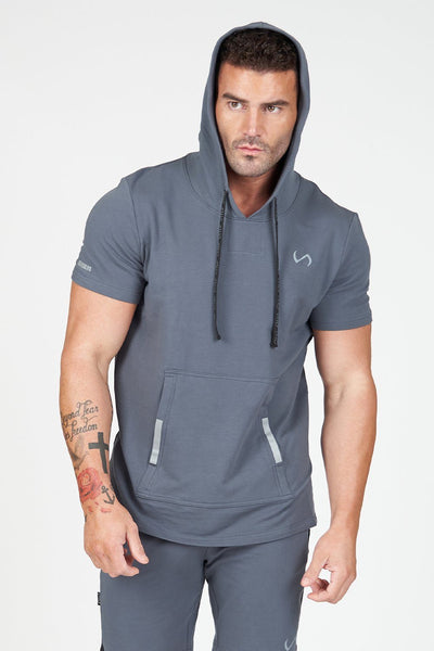 TLF Apparel - Air-Flex Short Sleeve Gym Hoodie - MEN HOODIES-SWEATSHIRTS & JACKETS - Turbulence / STurbulence / MTurbulence / LTurbulence / XLTurbulence / 2XL
