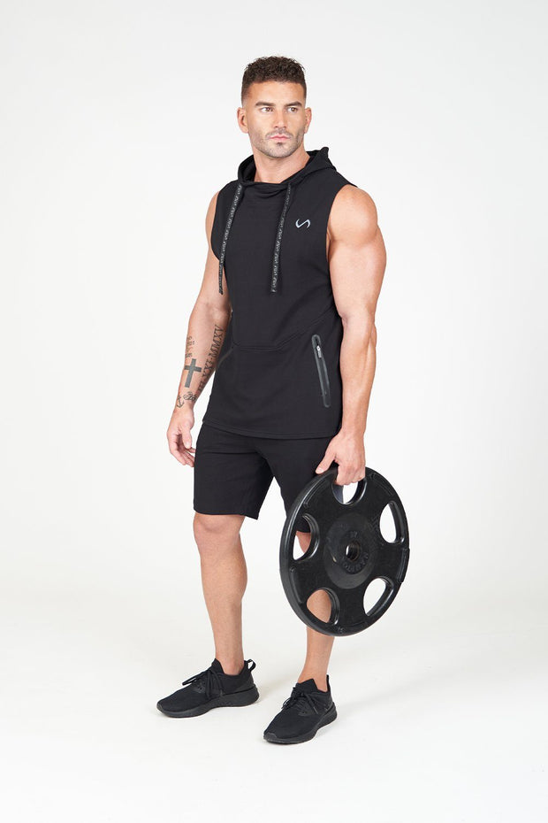 TLF Air-Flex Sleeveless Gym Hoodie - Black
