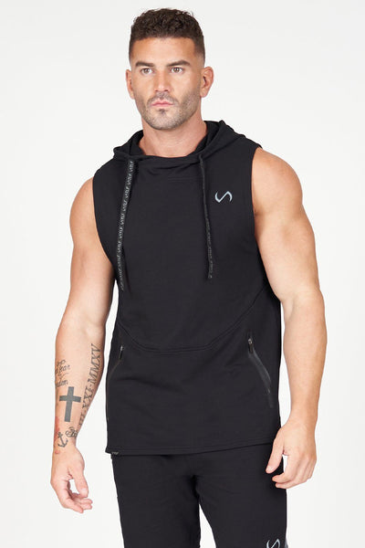 TLF Apparel - Air-Flex Sleeveless Gym Hoodie - MEN TANK TOPS & SLEEVELESS - Black / SBlack / MBlack / LBlack / XLBlack / 2XL