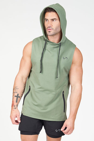 TLF Air-Flex Sleeveless Gym Hoodie - Sea Spray