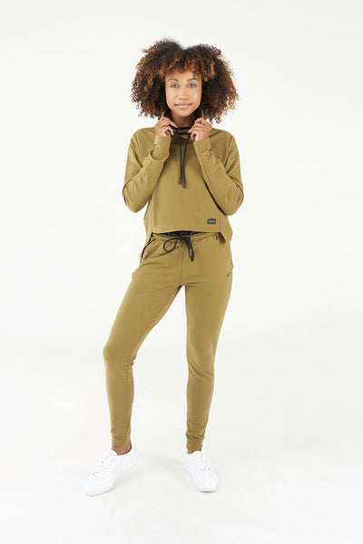 TLF All-Day Ease Cropped Pullover Sweatshirt - Lizard