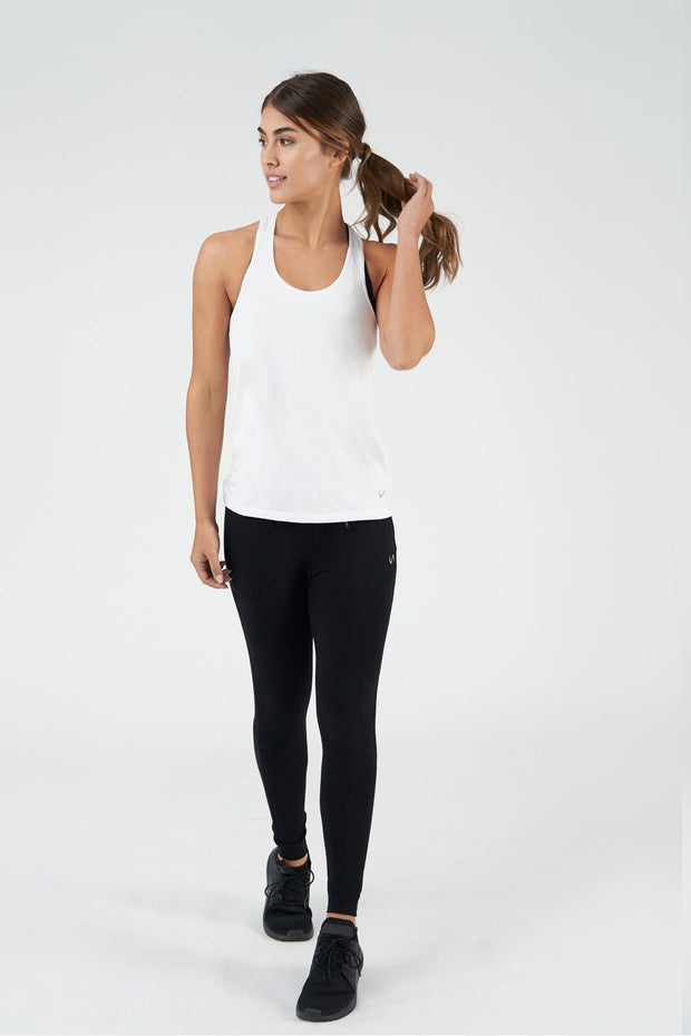 TLF All-Day Ease Racerback Tank - White