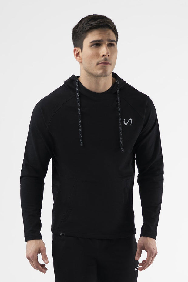 TLF Camo French Terry Workout Hoodie - Black