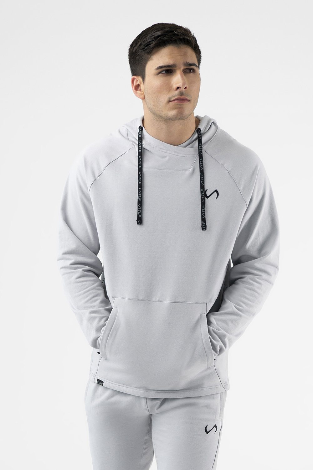 Camo French Terry Workout Hoodie - Silver
