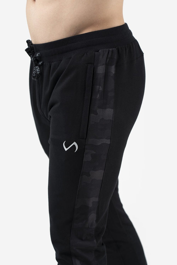 TLF Camo French Terry Workout Joggers - Black