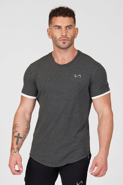 TLF Core Classic Tee - Dark Charcoal Heather