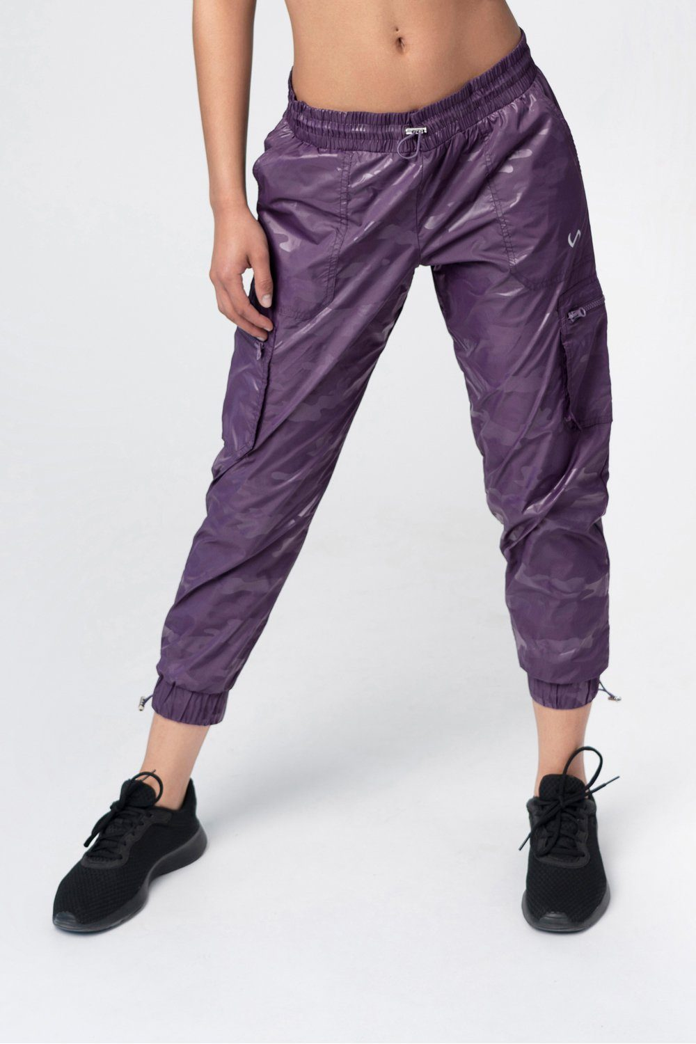 Covert Camo Gym To Street Joggers - Purple