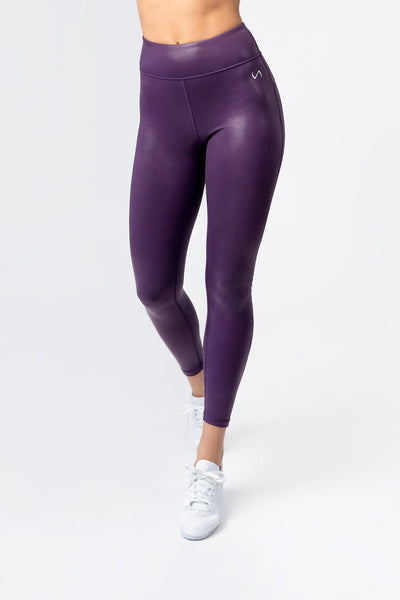 TLF Diamond High-Waisted Workout Leggings - Purple Chrome