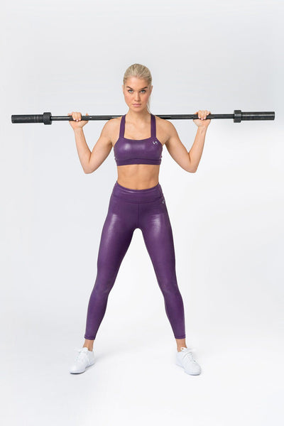 TLF Apparel - Diamond Workout Sports Bra - WOMEN SPORTS BRAS - Purple Chrome / XSPurple Chrome / SPurple Chrome / MPurple Chrome / LPurple Chrome / XL