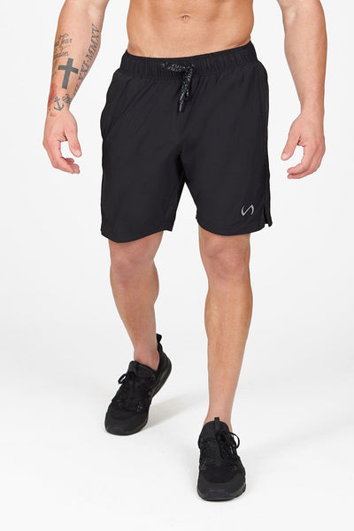 TLF Apparel - Element Air-Flex Gym Shorts - MEN SHORTS - Black / SBlack / MBlack / LBlack / XLBlack / 2XL
