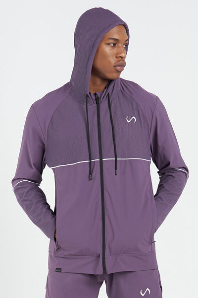 TLF Apparel - Element Techne Zip-Up Jacket - MEN HOODIES-SWEATSHIRTS & JACKETS - Sloe / SSloe / MSloe / LSloe / XLSloe / 2XL