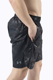 TLF Gym-To-Street Camo Workout Shorts - Jet Black