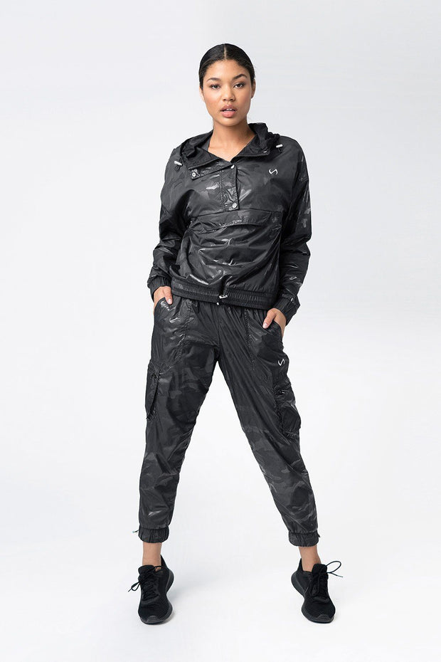 "TLF Privy Camo Gym-To-Streetâ""¢ Jacket - Black Camo"