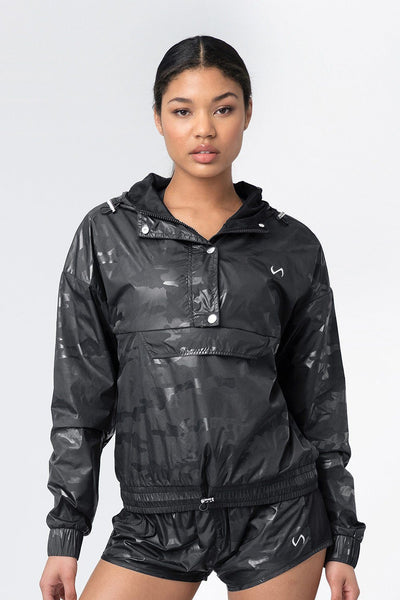 TLF Apparel - Privy Camo Gym-To-Street™ Jacket - WOMEN HOODIES-SWEATSHIRTS & JACKETS - Black Camo / XSBlack Camo / SBlack Camo / MBlack Camo / LBlack Camo / XL