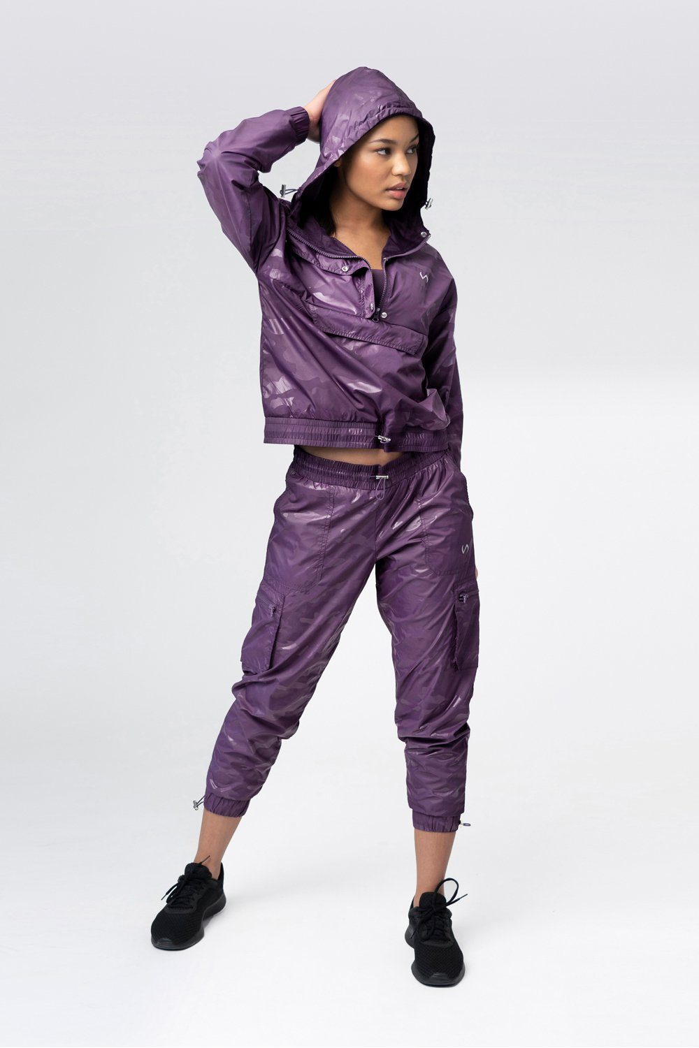 Privy Camo Gym To Street Jacket - Purple