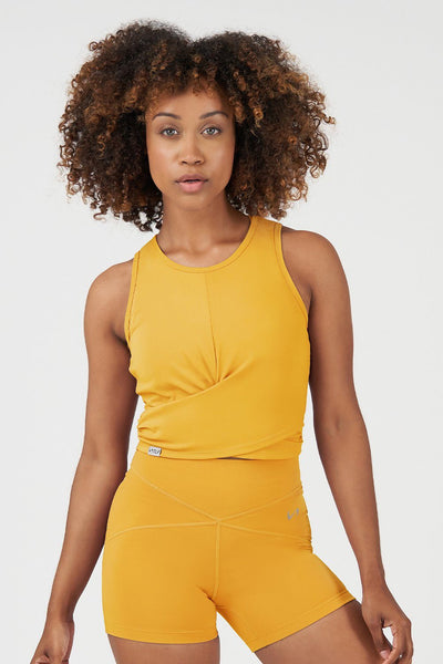 TLF Revive Gym Crop Top - Golden Rod
