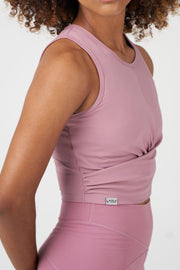 TLF Revive Gym Crop Top - Dusky Orchid