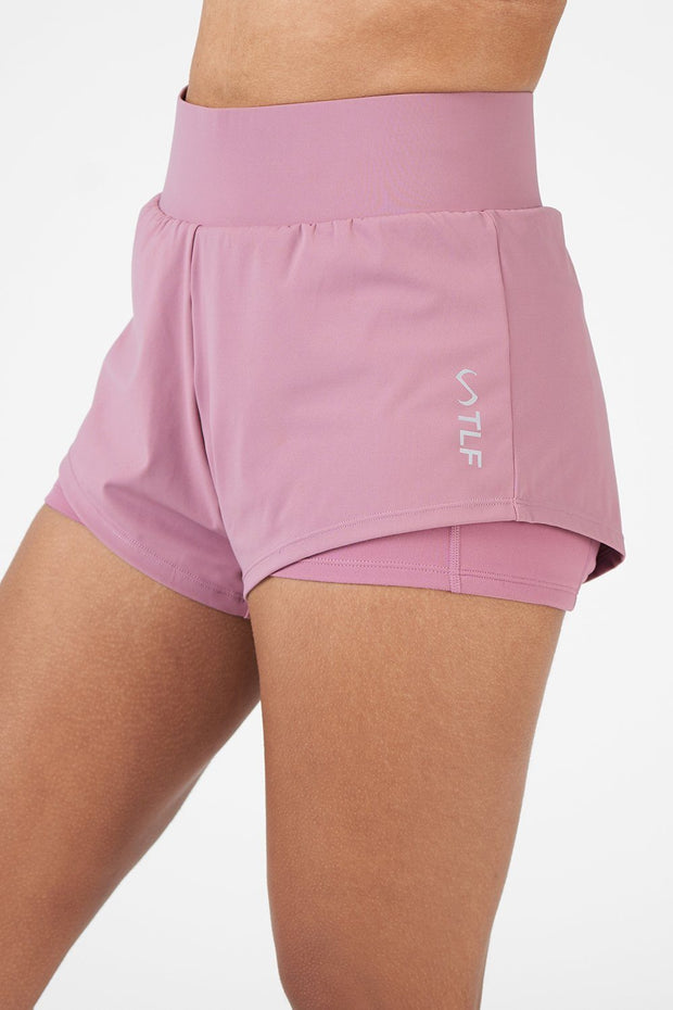 TLF Revive High-Waisted 2-In-1 Workout Shorts - Dusky Orchid