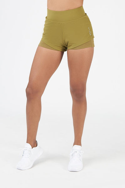 TLF Apparel - Train-N-Run™ Revive 2 in 1 Shorts - WOMEN SHORTS - Lizard / XSLizard / SLizard / MLizard / LLizard / XL