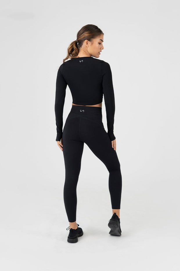 TLF Revive High-Waisted Workout Leggings - Black