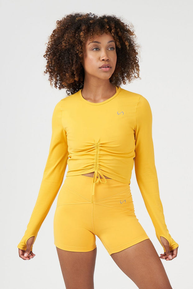 TLF Revive Long Sleeve Crop Top - Golden Rod