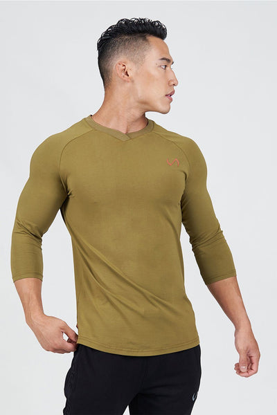 TLF Apparel - Surge ¾ Sleeve Training T-Shirt - MEN LONG SLEEVES - Lizard / SLizard / MLizard / LLizard / XLLizard / 2XL