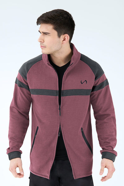 TLF Apparel - Techne Athletic Jacket - MEN HOODIES-SWEATSHIRTS & JACKETS - Loganberry Heather / SLoganberry Heather / MLoganberry Heather / LLoganberry Heather / XLLoganberry Heather / 2XL