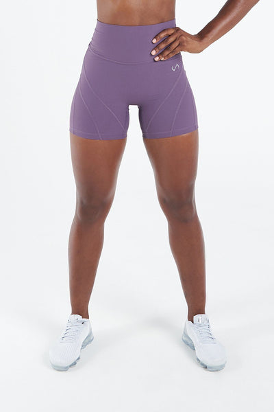 TLF Apparel - Techne High Waisted Workout Shorts - WOMEN SHORTS - Sloe / XSSloe / SSloe / MSloe / LSloe / XL