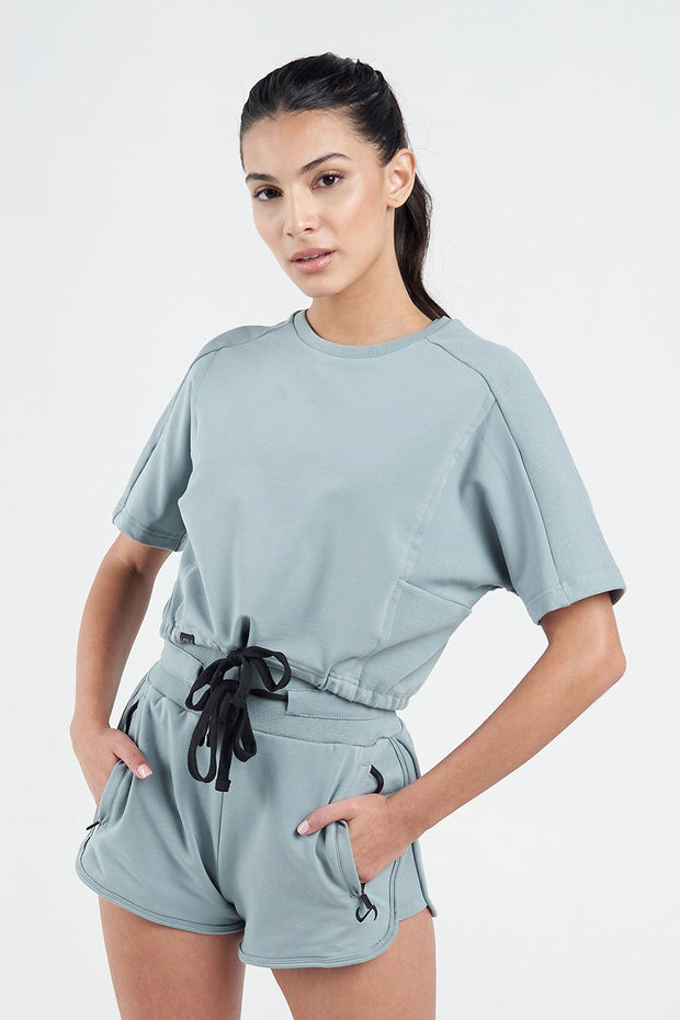 Techne Short Sleeve Crop Top