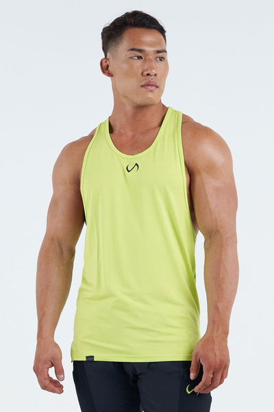 TLF Apparel - Techne Stringer Tank - MEN TOPS & SHORT SLEEVES - Bio Lime / SBio Lime / MBio Lime / LBio Lime / XLBio Lime / 2XL