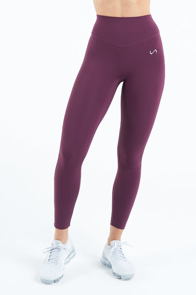 TLF Apparel - Tempo High Waisted Workout Leggings - WOMEN LEGGINGS & TIGHTS - Wine / XSWine / SWine / MWine / LWine / XL