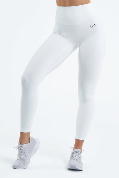 TLF Apparel - Tempo High Waisted Workout Leggings - WOMEN LEGGINGS & TIGHTS - White / XSWhite / SWhite / MWhite / LWhite / XL